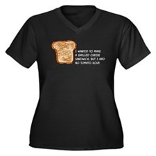 Grilled Cheese Women's Plus Size V-Neck Dark T-Shi