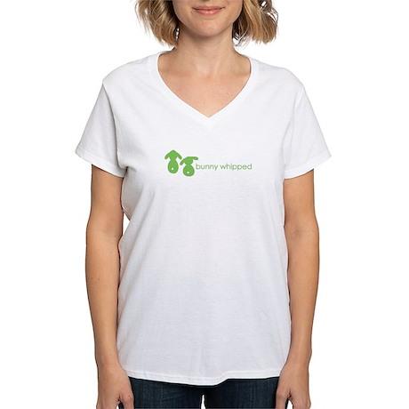 bunny whipped Women's V-Neck T-Shirt