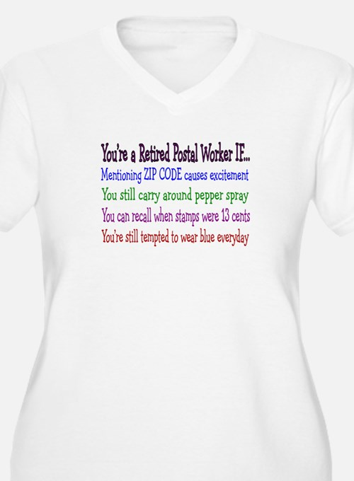 Retired Postal Worker Humor Plus Size T-Shirt