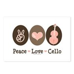 Peace Love Cello Postcards (Package of 8)