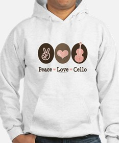 Peace Love Cello Hoodie