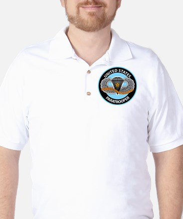 US Combat Paratrooper Logo Golf Shirt
