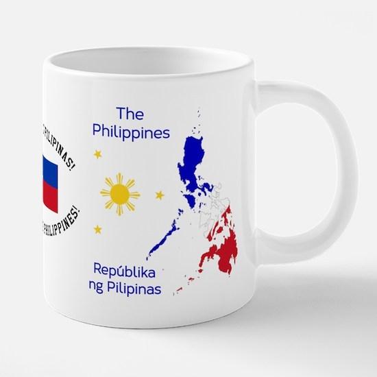 Philippines Map Illustration Mugs
