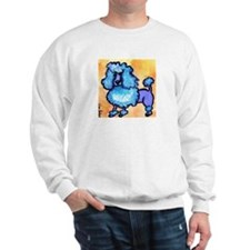 """Puffy Blue Poodle"" Sweatshirt"