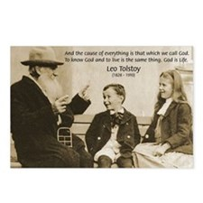 Leo Tolstoy: God Quotes Postcards (Package of 8)