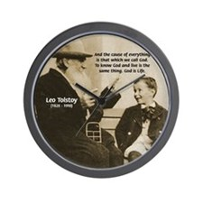 Leo Tolstoy: God Quotes Wall Clock