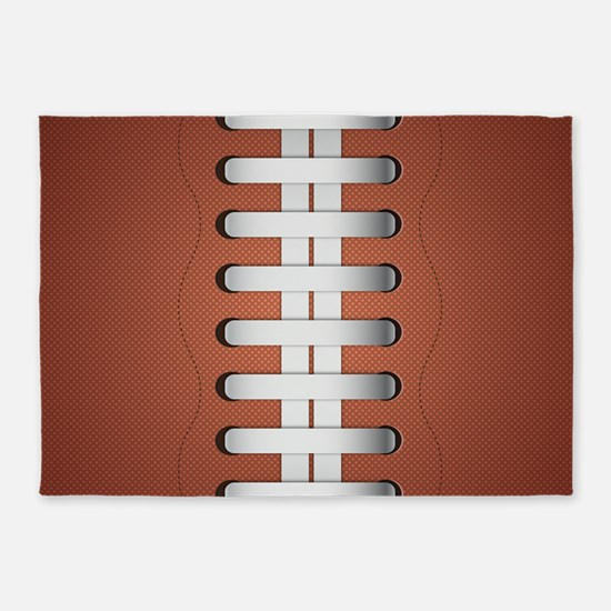 American Football Ball 5'x7'Area Rug