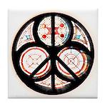 Jewish Peace Window Tile Coaster