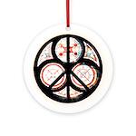 Jewish Peace Ornament (Round)