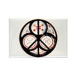 Jewish Peace Window Rectangle Magnet