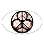 Jewish Peace Oval Sticker