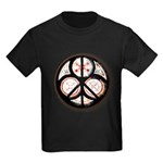 Jewish Peace Window Kids Dark T-Shirt
