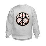 Jewish Peace Window Kids Sweatshirt