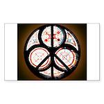 Jewish Peace Window Rectangle Sticker