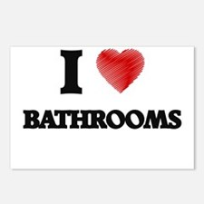 I love Bathrooms Postcards (Package of 8)