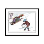 1930's Snow Fun #2 Framed Panel Print