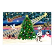 Xmas Magic & Dalmation Postcards (Package of 8)