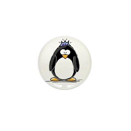 Princess Penguin Mini Button