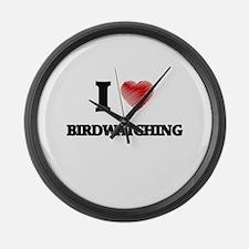 I love Birdwatching Large Wall Clock