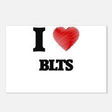 I love Blts Postcards (Package of 8)