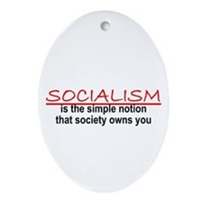 Socialism Oval Ornament