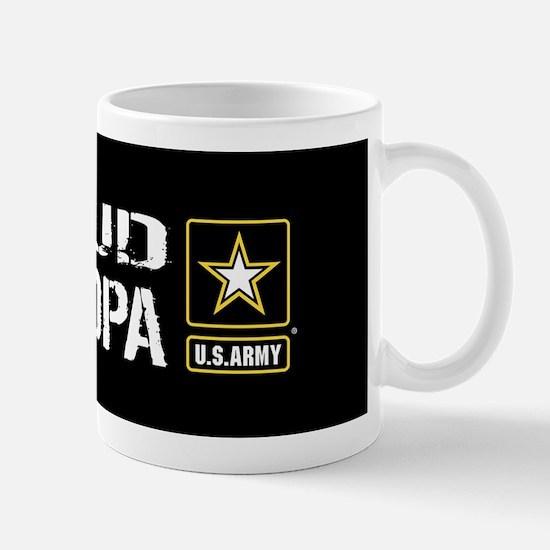 U.S. Army: Proud Grandpa (Black) Mug
