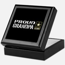 U.S. Army: Proud Grandpa (Black) Keepsake Box