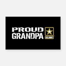 U.S. Army: Proud Grandpa (Bla Rectangle Car Magnet