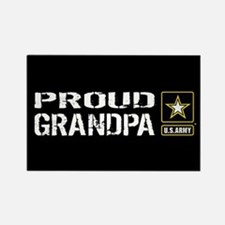 U.S. Army: Proud Grandpa (Black) Rectangle Magnet