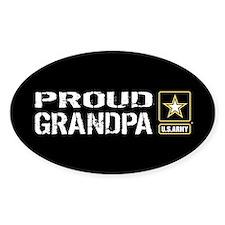 U.S. Army: Proud Grandpa (Black) Decal