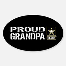 U.S. Army: Proud Grandpa (Black) Sticker (Oval)