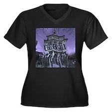 Spooky House Women's Plus Size V-Neck Dark T-Shirt