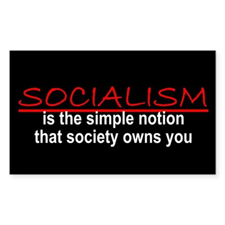 Socialism Rectangle Sticker