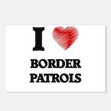 I love Border Patrols Postcards (Package of 8)