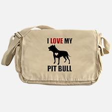 I love my pit bull Messenger Bag