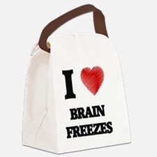 I love Brain Freezes Canvas Lunch Bag