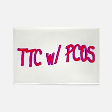 TTC w/ PCOS Rectangle Magnet