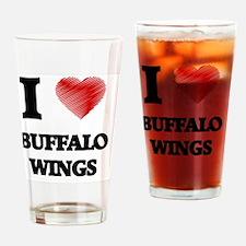 I love Buffalo Wings Drinking Glass