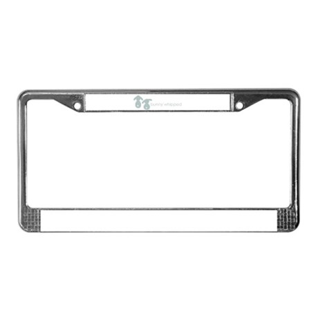bunny whipped License Plate Frame