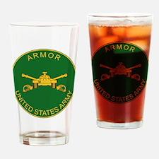 US Army Armor Logo Drinking Glass