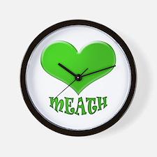 LOVE MEATH Wall Clock