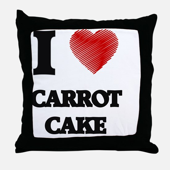 I love Carrot Cake Throw Pillow