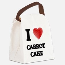 I love Carrot Cake Canvas Lunch Bag