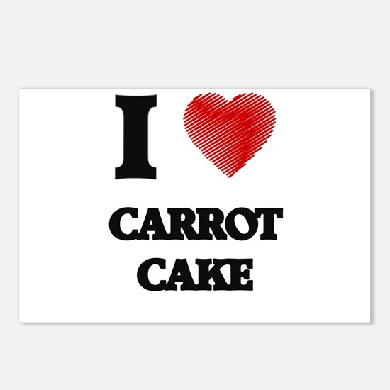 I love Carrot Cake Postcards (Package of 8)