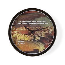 Cicero: Philosophy Religion Wall Clock