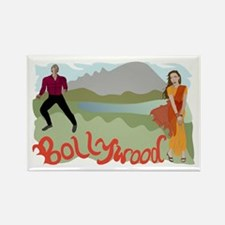 Singing Bollywood Rectangle Magnet
