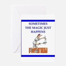 badminton joke Greeting Cards