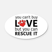 you can't buy love Oval Car Magnet