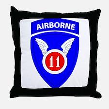 11th Airborne Division Emblem Throw Pillow