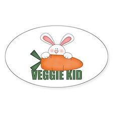 Veggie Kid Rabbit Oval Decal